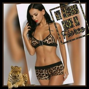 8ca5337e2037 Moon Goddess Boutique Intimates & Sleepwear - New! Mision Sexy Leopard  print lingerie set!